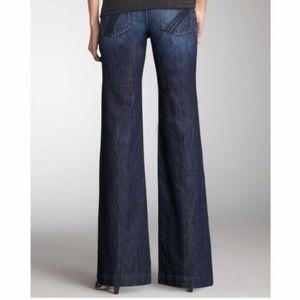7 For All Mankind Dojo Jeans Flare Wide Leg 7FAMK